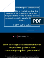 How to Recognize Clinical Stability in Hospitalize