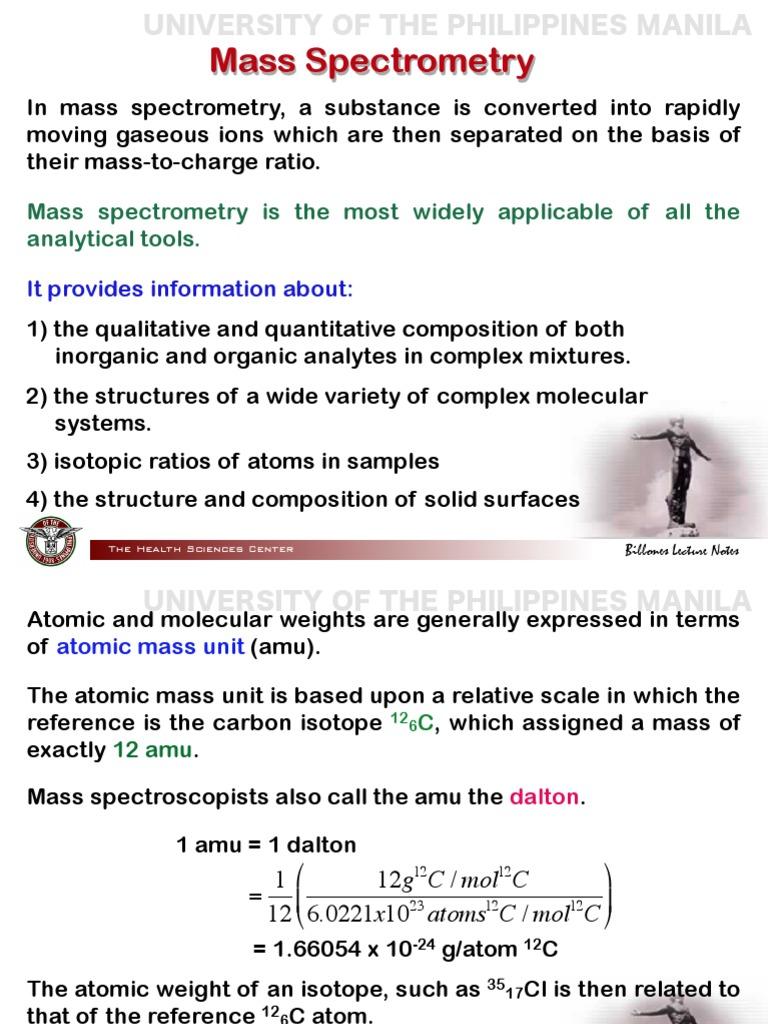 Mass Spect | Mass Spectrometry | Mass To Charge Ratio