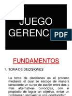 JUEGO de SIMULACIÓN GERENCIAL