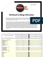 PeiWei Nutritional Allergy Menu Guide