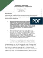 1998canlii17644 DHSS ATIPP Violation