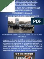 -DÍA NACIONAL DE LA REFLEXIÓN SOBRE LOS DESASTRES