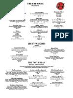 Limited Menu PDF New