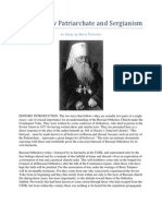 The Moscow Patriarchate and Sergianism