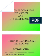 Random Blood Sugar Estimation and Its Significance