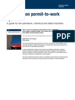 Guidance on Permit-To-work Systems