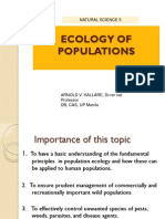 Lecture 7 Population Properties and Dynamics BW