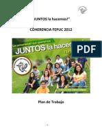 Plan de Trabajo Coherencia FEPUC 2012