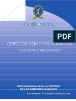 """CURSO DE DERECHOS HUMANOS """"DOCTRINA Y REFLEXIONES"""""""