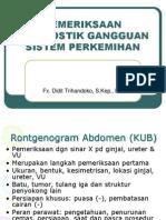 Pemeriksaan Diagnostik Gangguan Sistem Perkemihan