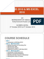 MS WORD 2010 & MS EXCEL 2010 KPT