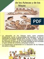 """El Modelo de Los Azteca y Mayas """"HISTORIA DE LA EDUCACION EN MEXICO"""""""