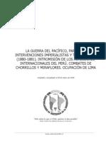 La Guerra del Pacífico, parte VII. Intervenciones imperialistas y toma de Lima (1880-1881). Intromisión de los acreedores ...............