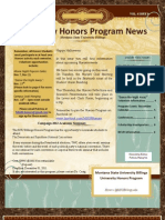 October 31 Honors Newsletter