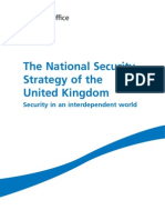 The National Security Stratey of the United Kingdom