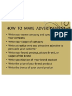 How to Make Advertisement