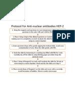 Protocol for Anti-Nuclear Antibodies HEP-2