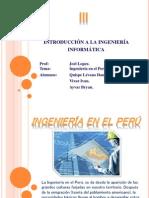 La Ingenieria en el Perú