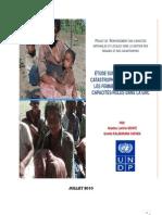 Étude sur les impacts des catastrophes naturelles sur les femmes ainsi que leurs capacités/rôles dans la GRC (PNUD/2010)
