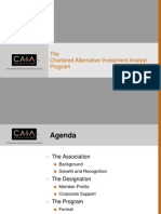 CAIA Programme Overview