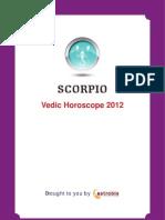 Scorpio Horoscope 2012