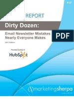 Marketingsherpa Dirty Dozen Email Mistakes - 2011