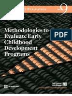 methodologies to evaluate early childhood development programs