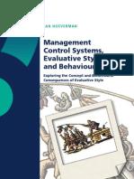 Phd man MCS, Evaluative Style and Behaviour