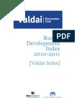 Russia's Development Index 2010-2011 [Valdai Index]