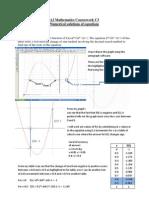 A2 Mathematics Course Work C3 Finle