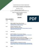Program of Workshop EIO November 4-5 2011