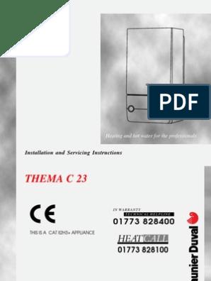 Saunier Duval Thema C23 Installation Manual Water Heating Valve