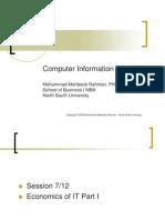 BUS 516 Session Economics of IT Part I