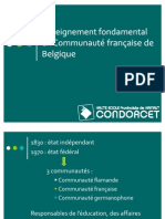 Enseignement fondamental en CF - français