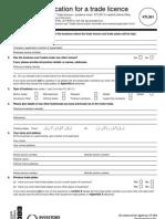 V301 Trade Licence Form