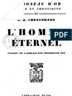 Chesterton, Gilbert Keith. L'homme éternel (CADRE)