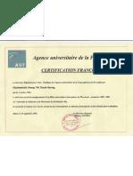 Certification Franc Op Hone de l'AUF