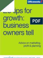 20 Tips From Entrepreneurs