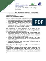 Documento No. 1 PUNTEO SOBRE INCIDENCIA POLÍTICA Y ALIANZAS