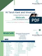 Web Cafe Server
