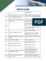 List of Q Code