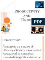 Productivity and Union
