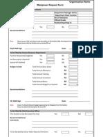 Manpower Planning Form