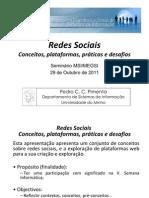 [Seminário MSI.MEGSI] Redes Sociais - 29 de Outubro de 2011