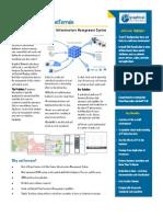 Net Terrain Datasheet - A New Data Center Infrastructure Management Solution