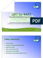 OPT for RAFT - Touro College of Pharmacy - 28 Oct 2011