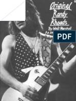 Ozzy Osbourne - Original Randy Rhoads Guitar Tab Songbook