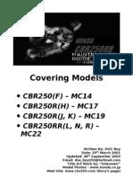 Honda CBR250R Maintenance Guide