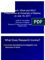 Research Why and What