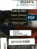 Casualties, Public Opinion and U.S. Military Intervention